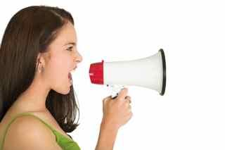 megaphone-girl