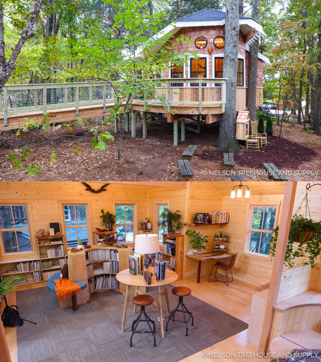 Groovy The Library Treehouse Every Backyard Should Have Download Free Architecture Designs Scobabritishbridgeorg